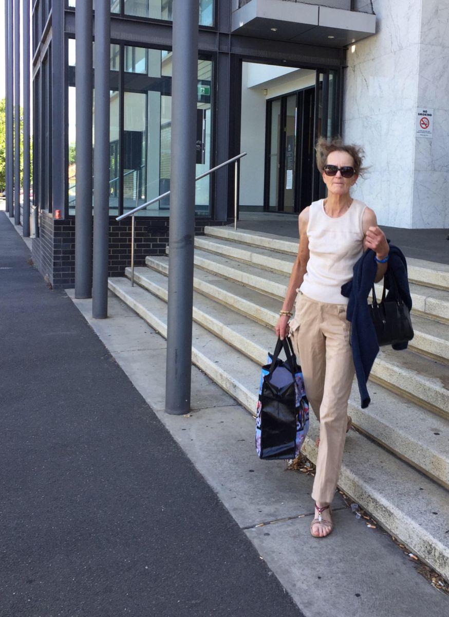 Christine Weisheit leaving Ballarat Magistrates Court